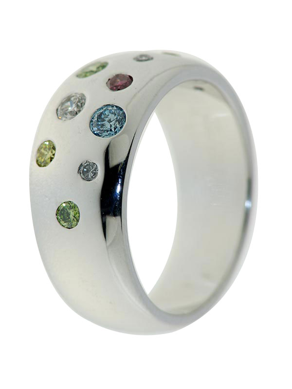 "Ring mit Multi Brillant ""Sternenhimmel"", Diamant, WG"