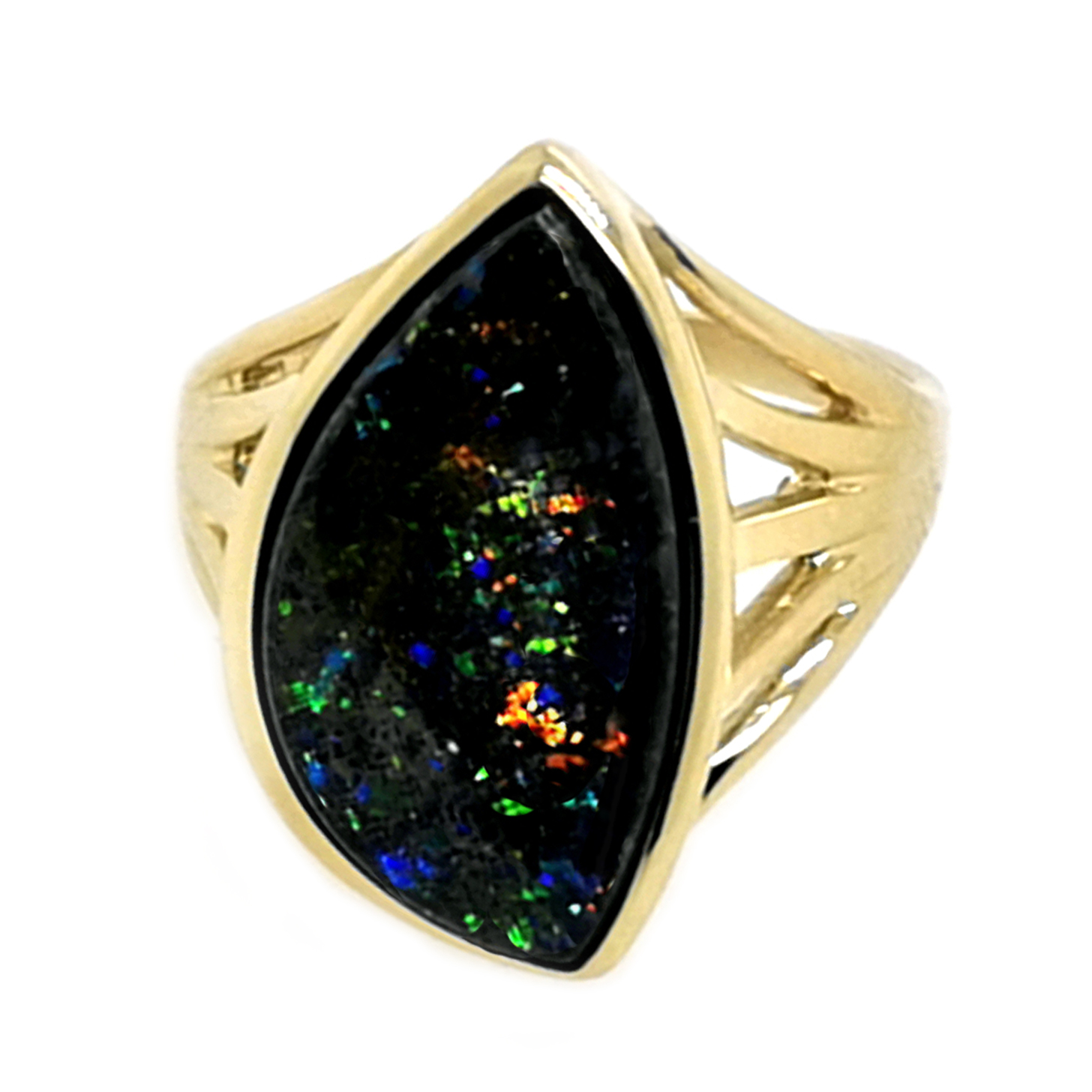 Ring mit Yowah-Nuts Opal, ca. 5 ct, 375 GG