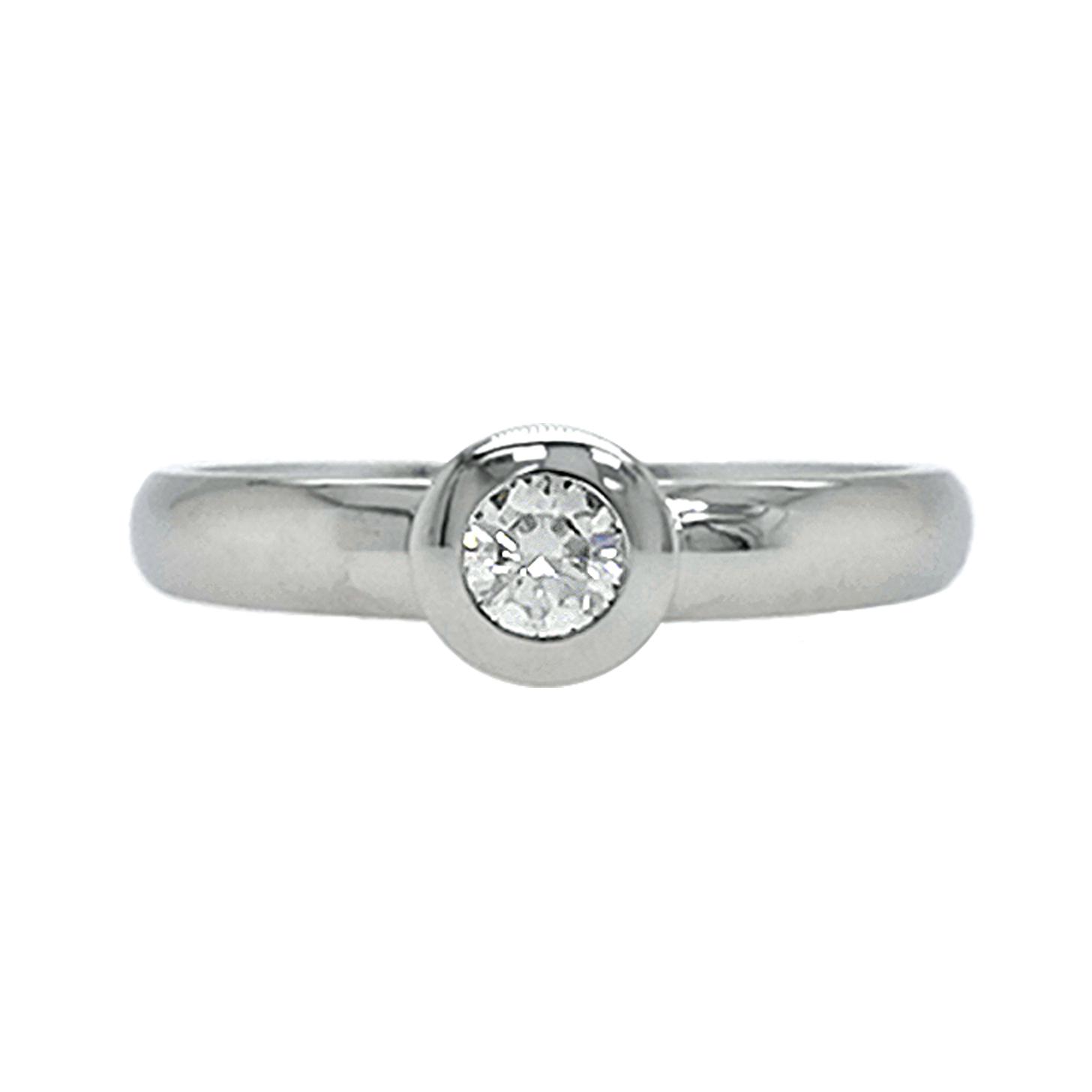 Brillantring aus 585 Weißgold mit weißem Diamanten im Brillantschliff ca. 0,25 ct