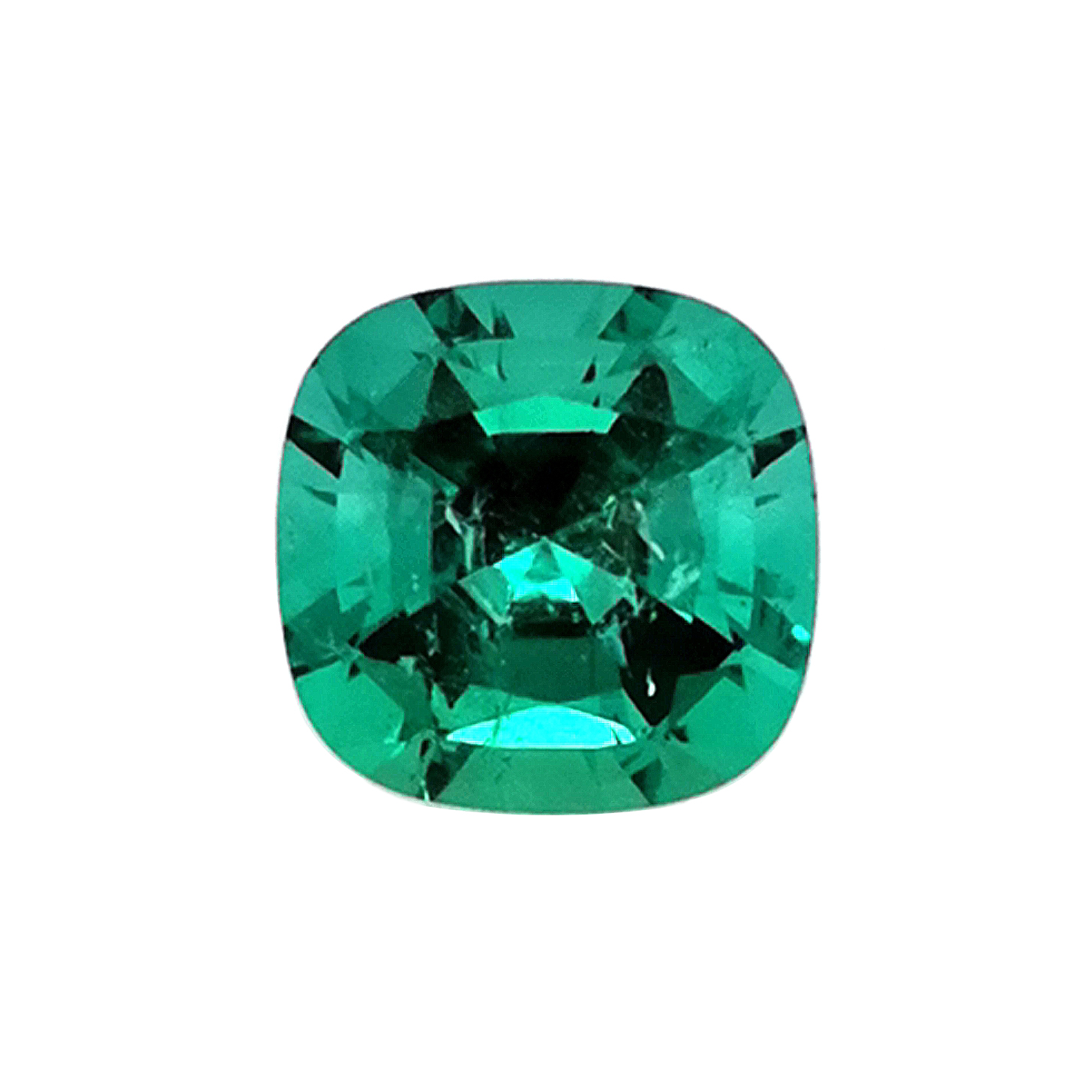 Smaragd AAAA 3,06 ct Kissenform mixed cut Sammler Edelstein mit Expertise