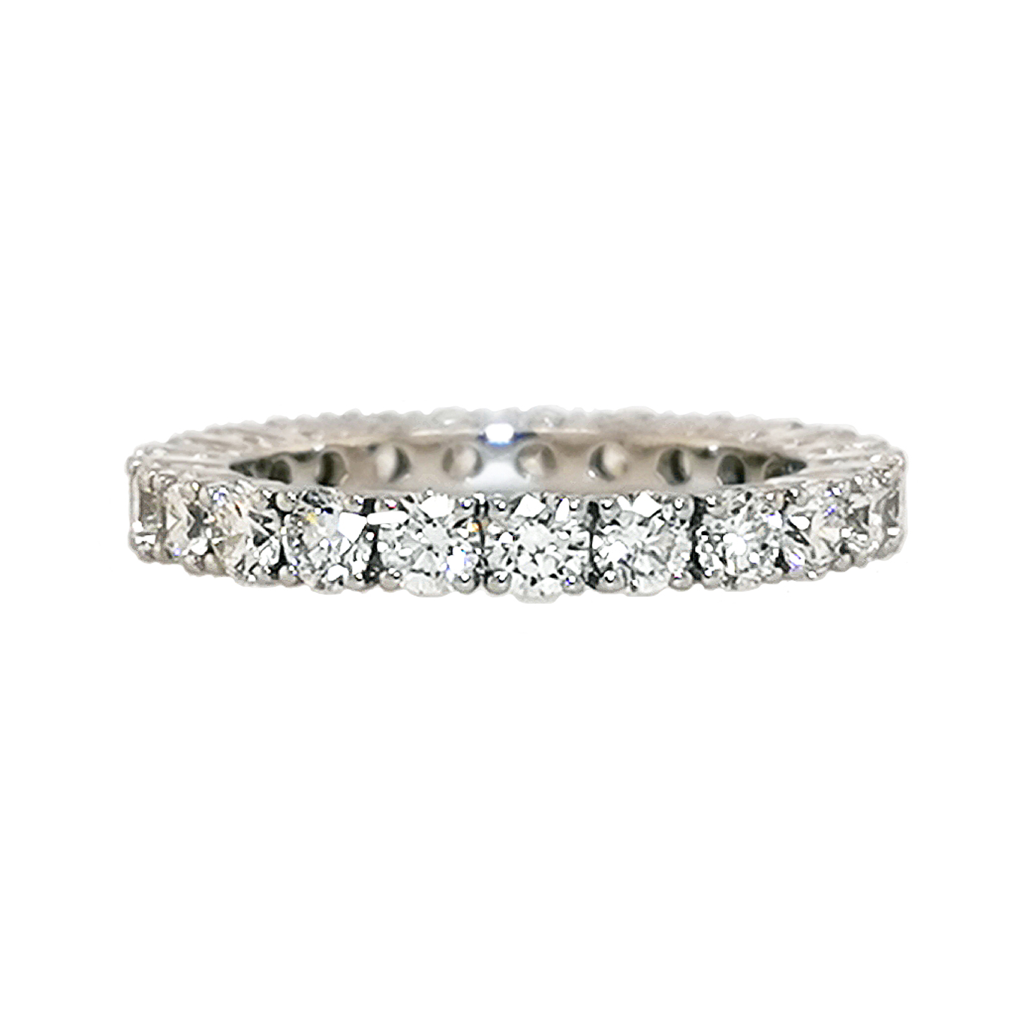 Brillantring aus 585 Weißgold mit über 20 weißen Diamanten im Brillantschliff über 2,5 ct