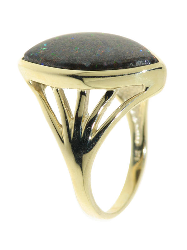 Ring mit Yowah-Nuts Opal